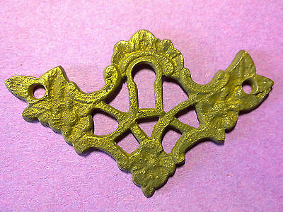 cast brass escutcheon, keyhole, key hole, antique or vintage  (O3)