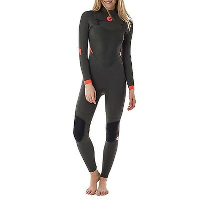 BNWT BILLABONG LADIES SYNERGY L/SLEEVE CHEST ZIP (14)  3 x 2 mm RRP$330 WETSUIT