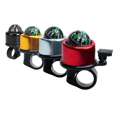 Multicolor Sonorous Bicycle Alarm Bell Horn Handlebar w/ Compass Bike Accessory