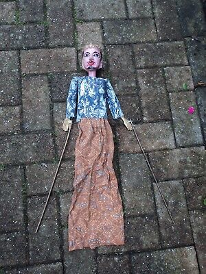 MID 20th C., TRADITIONAL JAVANESE 'WAYANG GOLEK' STICK/ROD PUPPET, INDONESIA.