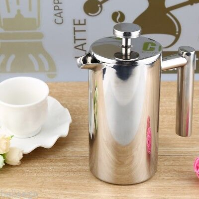350ML Stainless Steel Insulated Coffee Tea Maker with Filter Double Wall SILVER