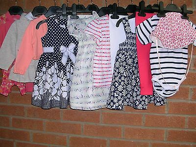 NEXT H&M BLUE ZOO etc Girls Bundle Outfits Tops Dress Romper Cardigan Age 6-9m