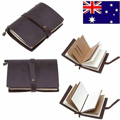 Leather Retro Hand Notebook Journal Diary Sketchbook Vintage Travel Notebook