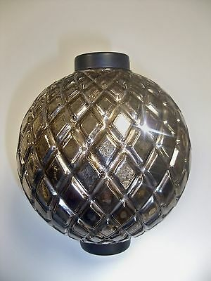 Spectacular Silver Merc Flat Quilt Lightning Rod Ball #2 (Last One)!