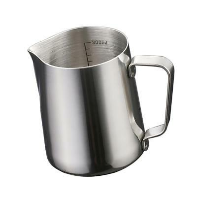 Milk Jug Frothing Cup Pitcher Stainless Steel Latte Cappuccino 350ml #2