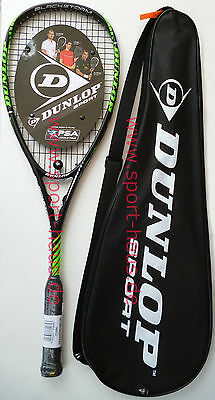 Dunlop Blackstorm Power - Squash Carbon Racket, bespannt, Rahmengewicht ca.155g