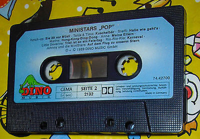 "Mini Stars ""Pop"" 1989 Musik Kassette MC Like a Prayer uvm Dino Music Lieder"