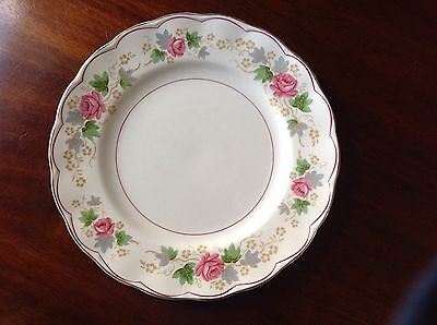 "Set Of 4 Grindley Creampetal Swansea Rose 9"" Luncheon Plates, England"