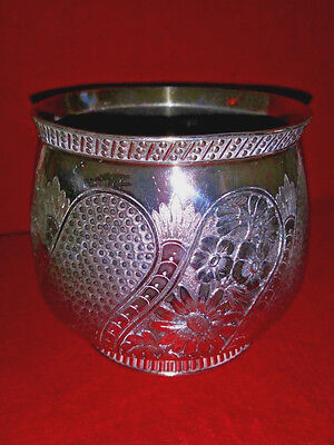James W. Tufts Silver Plated Urn, Planter, Open Sugar? Silverplate