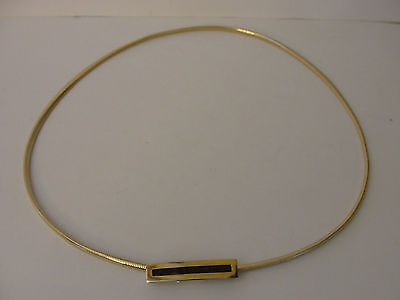 "Anne Klein for Accessocraft Thin Skinny 1/4""  Gold Tone Snake Stretch Belt"