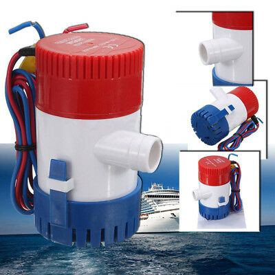 1Set 12V 750GPH Electric Submersible Marine Boat Yacht Silent Bilge Water Pump