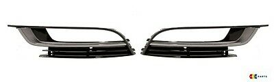 New Genuine Vw Cc 12-16 Front Bumper Left N/s Right O/s Fog Light Grill Set 2Pcs