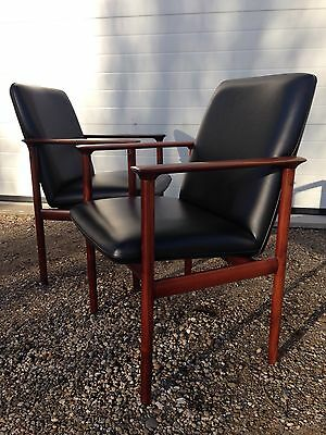 SET OF 4 1960's Danish Rosewood Armchairs. Free London Delivery.