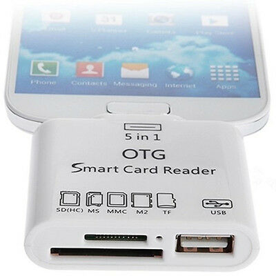 5 In 1 USB MS MMC TF SD Card Reader Adapter For Galaxy S3 S4 for Samsung