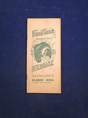 Circa 1928 Fishing Tackle Catalogue - Heddon, Cross Rods, Shakespeare, Etc.