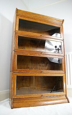 Exceptional Antique Oak Gunn Sectional Barristers Bookcase