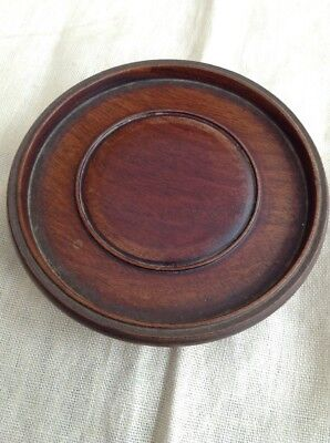 Antique Chinese Wooden Pot/ Vase Stand - Approx 115 Mm Internal Measurement .
