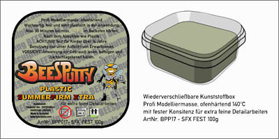 BeeSPutty-Plastic-SUMMER-FIRM-Xtra-Plastic-Modelling-Clay-(100g)-(6,00 EUR/100g)