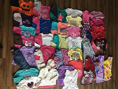 Euc Huge Girls 4T Clothes Lot Back To School Outfits Fall Winter Mixed Brands
