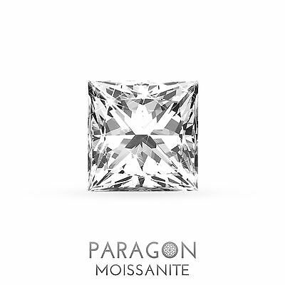 Paragon Moissanite Loose Princess Cut Best Diamond + C&C, Alternative - Buy Now!