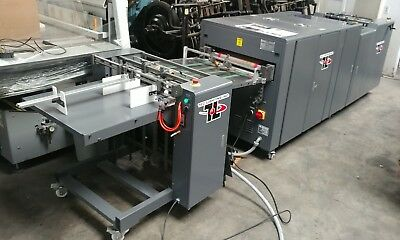 """2015 TEC LIGHTING UV COATER 16"""" Wide PILE FEED & STACKER IR DRYER ONLY 65 HOURS"""