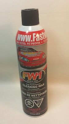 New FASTWAX FW1 Cleaning Wax, Waterless Wash & Wax 17.5 oz Canister