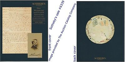 Sotheby's NY FINE MANUSCRIPT & PRINTED AMAERICANA incl Goddard Collection #6339
