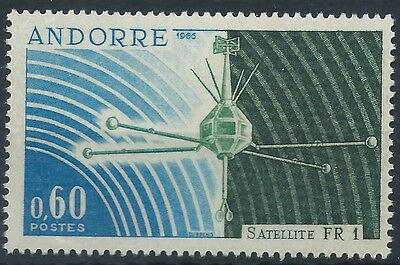 """FRENCH ANDORRA 1965 SG F197 Launching of Satellite """"FR 1"""". Mint MNH"""