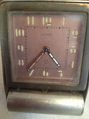 Mid 20th century JAEGER-LECOULTRE traveling alarm clock working