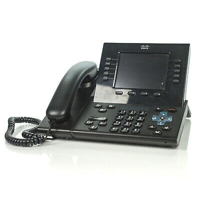 CISCO CP-8961 10-LINE Unified IP VoIP Black Desktop Office Phone  CP-8961-C-K9