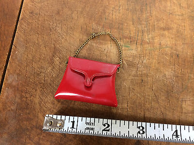 Rare Vintage Mid Century Barbie Red Purse Accessory 50s 60s