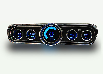 Ford Mustang Digital Dash Panel for 1965-1966 Gauges by Intellitronix Blue LEDs