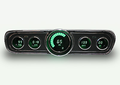 Ford Mustang Digital Dash Panel for 1965-1966 Gauges by Intellitronix Green LEDs