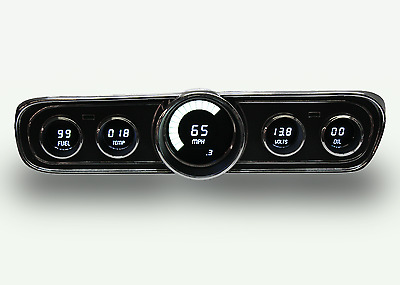 Ford Mustang Digital Dash Panel for 1965-1966 Gauges by Intellitronix White LEDs