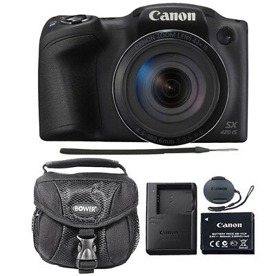 Canon PowerShot SX420 IS 20MP Digital Camera (Black) with Camera Case