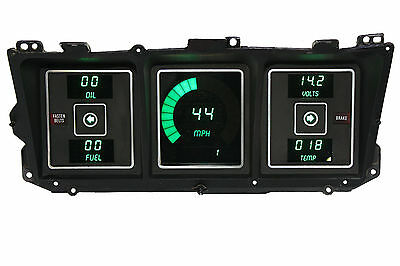 Ford Truck DIGITAL DASH PANEL FOR 1973-1979 Gauges Intellitronix Green LEDs!!