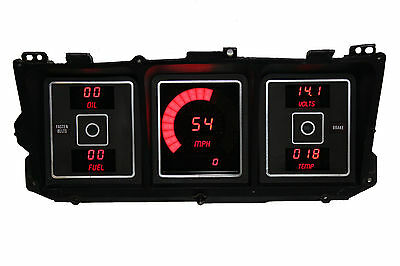 Ford Truck DIGITAL DASH PANEL FOR 1973-1979 Gauges Intellitronix Red LEDs!!