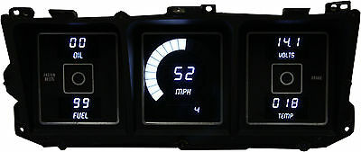 Ford Truck DIGITAL DASH PANEL FOR 1973-1979 Gauges Intellitronix White LEDs!!
