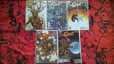 Marvel Comics Groot 2016 #1, 2, 3, 5 & 6 1st Print Bagged & Boarded VF/NM