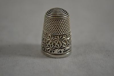 VINTAGE HENRY GRIFFITH sterling silver thimble 14 Chester hallmark 1901