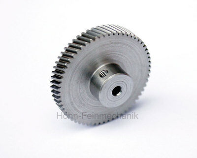 Spur Gear, Gear, 20° Oblique Toothed, Module 0,5, from Steel, Z60, Left
