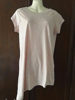 Braintree pale pink t-shirt asymmetrical cap sleeve size S small