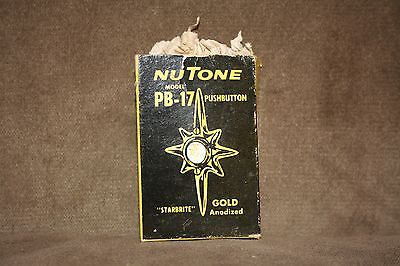 Vintage Door Bell Retro Atomic Star Nuclear NUTONE PB-17 Art Deco Damaged Box