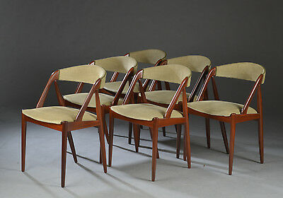 Kai Kristiansen teak chairs (set of 6)-very nice condition