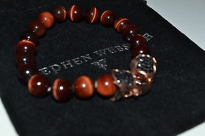 Stephen Webster tigers eye black sapphire clasp bracelet rose gold on silver New