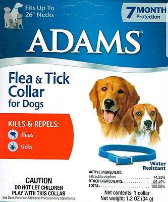 """Adam Flea & Tick Collar for Dogs 7 Month Protection Fits up to 26"""" Necks"""