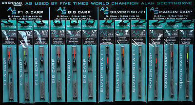 Drennan As1, As2, As3, As4 Ready Tied Pole Rigs - Full Range Available