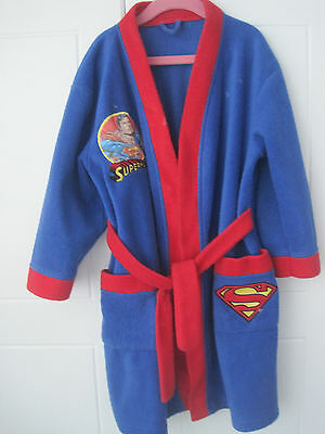 Boys Dressing Gown Superman Aged 6/7 Years Blue / Red