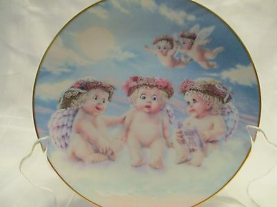 Hamilton Collection Dreamsicles THE FLYING LESSON Collectible Plate 1994