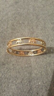 9ct gold Elephant bracelet